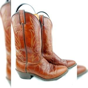 Laredo Brown Leather Cowboy Boots 10